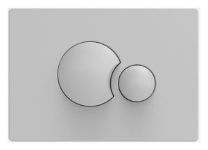 Sanit WC Betätigungsplatte S706 v.vorne/oben manhattan