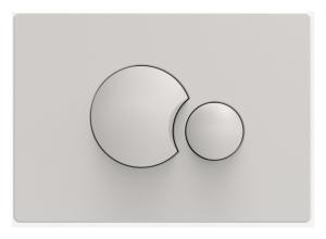 Sanit WC Betätigungsplatte S706 v.vorne/oben pergamon