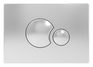 Sanit WC Betätigungsplatte S706 v.vorne/oben chrom hochglanz