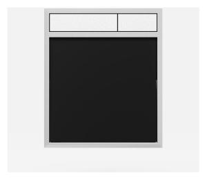 SANIT Betätigungsplatte LIS ohne Beleuchtung Grundplatte Glas schwarz Tastenpaar mattchrom