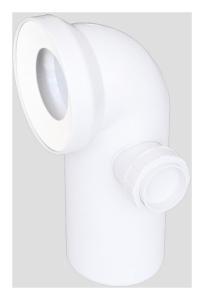 Sanit WC-Anschlussbogen DN100 90° weiß Anschluss seitlich DN50 rechts