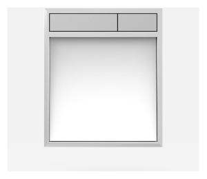 SANIT Betätigungsplatte LIS ohne Beleuchtung Grundplatte Glas weiss Tastenpaar mattchrom