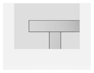 SANIT Betätigungsplatte LOS Grundplatte weiß, Tastenpaar Chrom Hochglanz