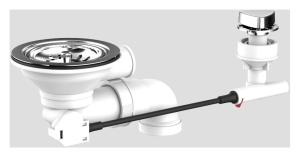 SANIT Körbchen-Ablaufgarnitur 3 1/2 ohne Überlauf,Abgang 1 1/2