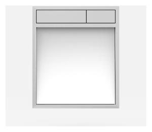 SANIT Betätigungsplatte LIS ohne Beleuchtung Grundplatte Glas weiss Tastenpaar chrom