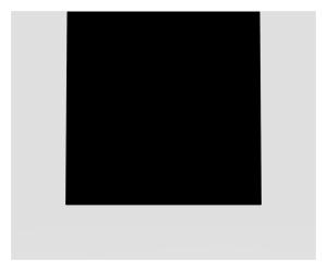 SANIT Designelement für  Betätigungsplatte LIS Glas schwarz