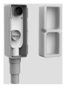 SANIT Wandeinbaugeruchverschluss höhenverstellbar, für Behinderten-Waschtisch