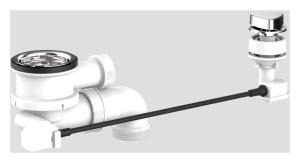 SANIT Körbchen-Ablaufgarnitur 1 1/2 ohne Überlauf