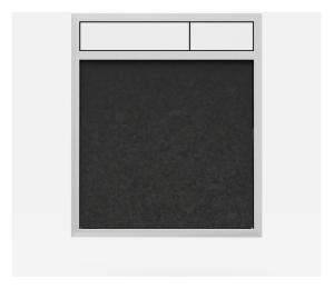 SANIT Betätigungsplatte LIS ohne Beleuchtung Grundplatte Granit schwarz Tastenpaar weiss