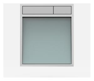 SANIT Betätigungsplatte LIS ohne Beleuchtung Grundplatte Glas silbergrau Tastenpaar mattchrom
