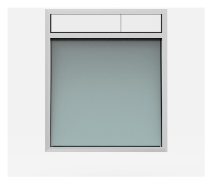 SANIT Betätigungsplatte LIS ohne Beleuchtung Grundplatte Glas silbergrau Tastenpaar weiss
