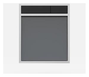 SANIT Betätigungsplatte LIS ohne Beleuchtung Grundplatte Glas anthrazit Tastenpaar schwarz