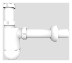 SANIT Flaschengeruchverschluß G1 1/2x40 ohne Geräteanschluss