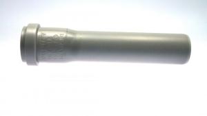 HT Rohr HTEM mit Muffe, DN 50 (Variante: Länge 150 mm)
