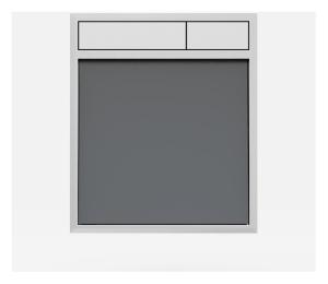 SANIT Betätigungsplatte LIS ohne Beleuchtung Grundplatte Glas anthrazit Tastenpaar mattchrom