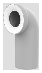 Sanit WC-Anschlussbogen DN100 manhattan 90 Grad