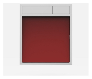 SANIT Betätigungsplatte LIS ohne Beleuchtung Grundplatte Glas rot Tastenpaar chrom