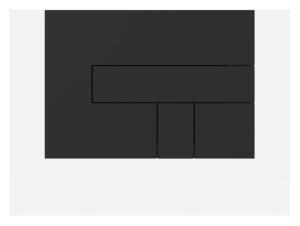 SANIT Betätigungsplatte LOS Kunststoff, schwarz