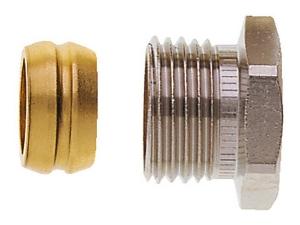 Heimeier Klemmverschraubung für Kupfer- und Stahlrohr 15mm Rp 1/2