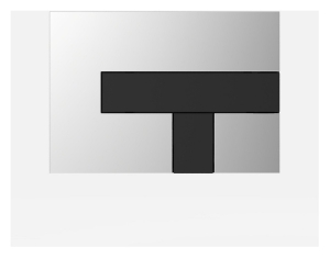 SANIT Betätigungsplatte LOS Grundplatte chrom hochgalnz, Tastenpaar schwarz