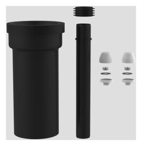 SANIT WC-Anschlussgarnitur schweißbar 300mm DN100 weiß