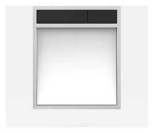SANIT Betätigungsplatte LIS ohne Beleuchtung Grundplatte Glas weiss Tastenpaar schwarz