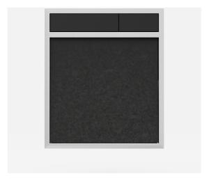 SANIT Betätigungsplatte LIS ohne Beleuchtung Grundplatte Granit schwarz Tastenpaar schwarz