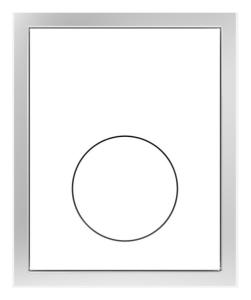 SANIT Urinal-Abdeckplatte Kunststoff weiß flächenbündig