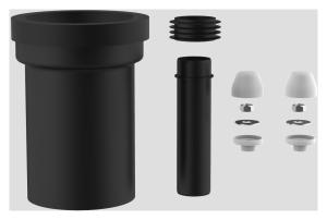 SANIT WC-Anschlussgarnitur schweißbar 180mm DN100 weiß