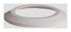 SANIT WC-Flachrosette DN 90 weiß-alpin