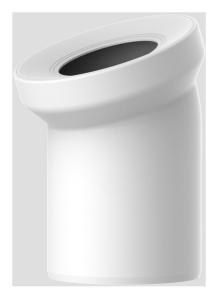 Sanit WC-Anschlussbogen DN100 weiß 22 Grad