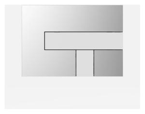 SANIT Betätigungsplatte LOS Grundplatte chrom hochglanz, Tastenpaar weiß