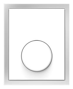 SANIT Urinal-Abdeckplatte Glas weiß