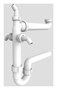 SANIT Raumschaffer G1 1/2x40 mit 3x Geräteanschluss