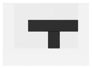 SANIT Betätigungsplatte LOS Grundplatte weiß, Tastenpaar schwarz