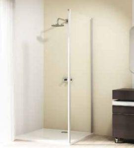 Hüppe Design elegance 4-Eck Seitenwand für Gleittür 2teilig mit festem Segmenten/Gleittür mit festem Segment und Nebenteil Linksbefestigung