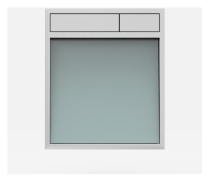 SANIT Betätigungsplatte LIS ohne Beleuchtung Grundplatte Glas silbergrau Tastenpaar chrom