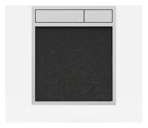 SANIT Betätigungsplatte LIS ohne Beleuchtung Grundplatte Granit schwarz Tastenpaar mattchrom