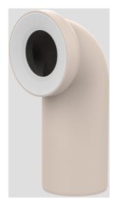 Sanit WC-Anschlussbogen DN100 bahamabeige 90 Grad