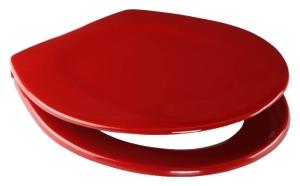 SANIT WC-Sitz 4002 abumed, Edelstahlscharnier, Sicherheitsverschraubung, rot