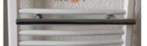 Mert Handtuchhalter Stange gerade chrom (Breite: 400 mm)
