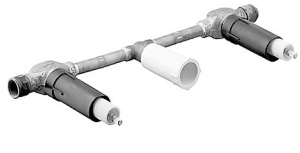 HANSAVARIO Einbaukörper für 3-Loch Waschtisch-Wandbatterie, DN 15 (G 1/2)