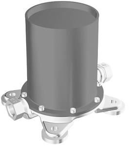 HANSAVARIO  Einbaukörper, DN 15 (G1/2)  für Wannen-Batterien  bodenstehend