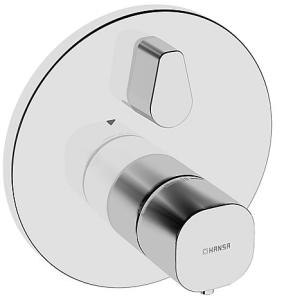 HANSALIVING  Fertigmontageset mit Funktionseinheit  Wannen-Thermostat-Batterie, DN 15 (G 1/2) rund