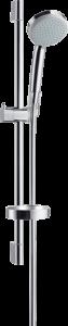 Hansgrohe Croma 100 Brauseset Mono EcoSmart 9 l/min mit Brausestange 65 cm und Seifenschale