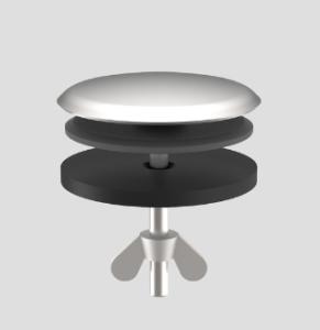 SANIT Hahnlochstopfen für Spülen d:35mm Edelstahl