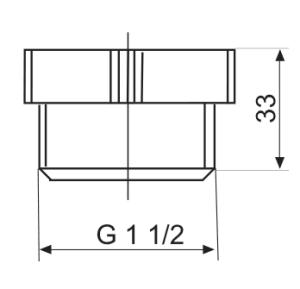 SANIT Siphonverschlusskappe G1 1/2