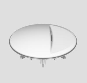 SANIT Abdeckplatte Funktionseinheit 821/50F chrom