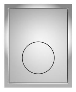 SANIT Urinal-Abdeckplatte Kunststoff mattchrom flächenbündig