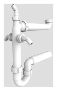 SANIT Raumschaffer G1 1/2x50 mit 3x Geräteanschluss